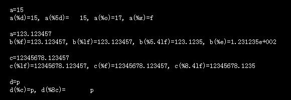 printf函数